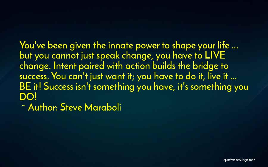 Something You Can't Change Quotes By Steve Maraboli