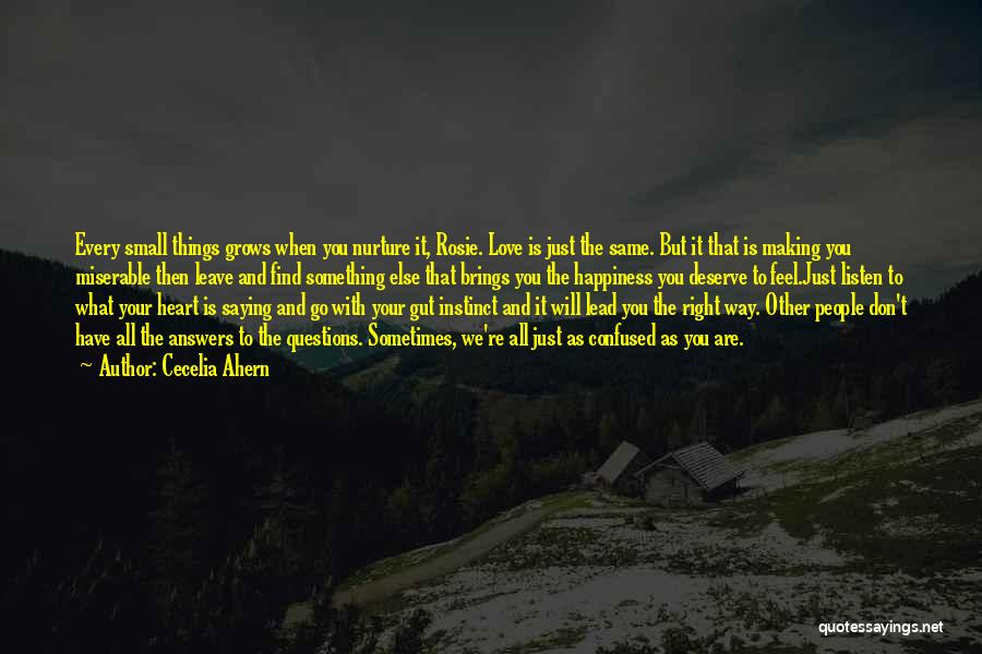 Something You Deserve Quotes By Cecelia Ahern