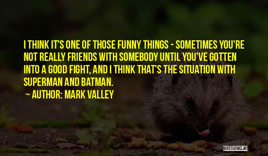 Sometimes Friends Fight Quotes By Mark Valley