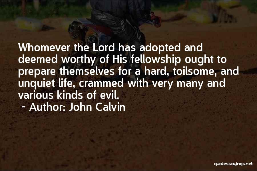 Sometimes Life Gets Hard Quotes By John Calvin
