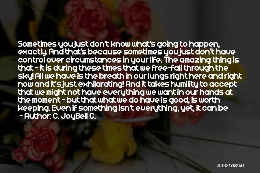 Sometimes What You Want Quotes By C. JoyBell C.