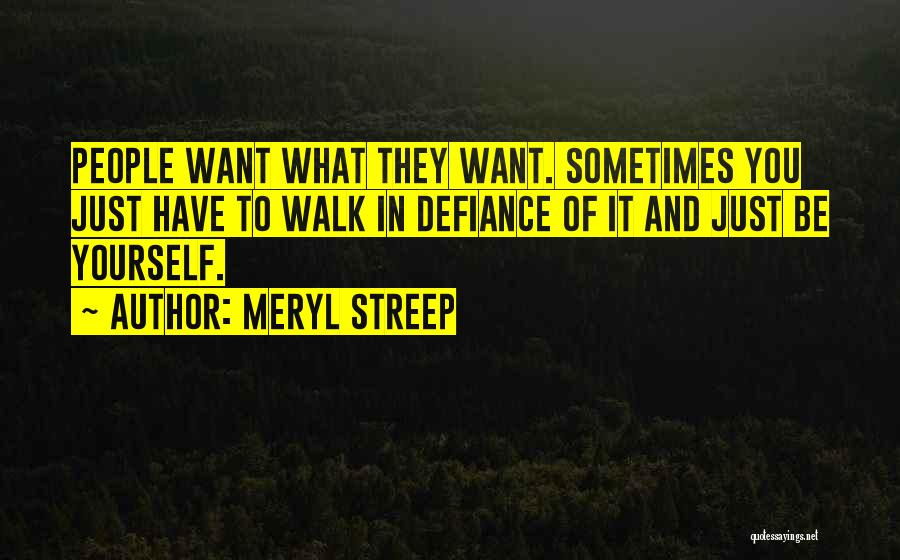Sometimes What You Want Quotes By Meryl Streep