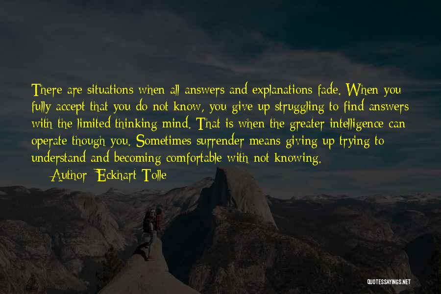 Sometimes You Give Up Quotes By Eckhart Tolle