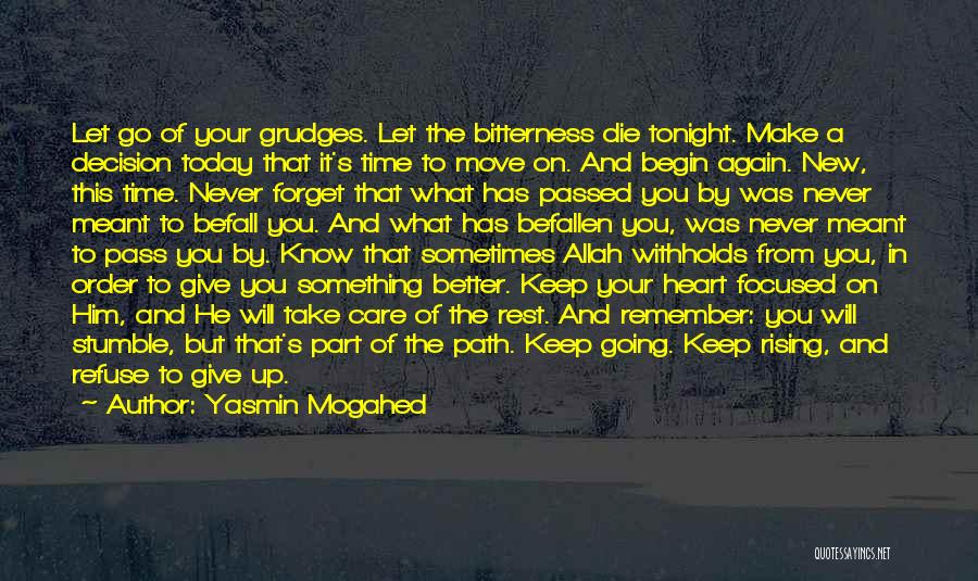 Sometimes You Give Up Quotes By Yasmin Mogahed