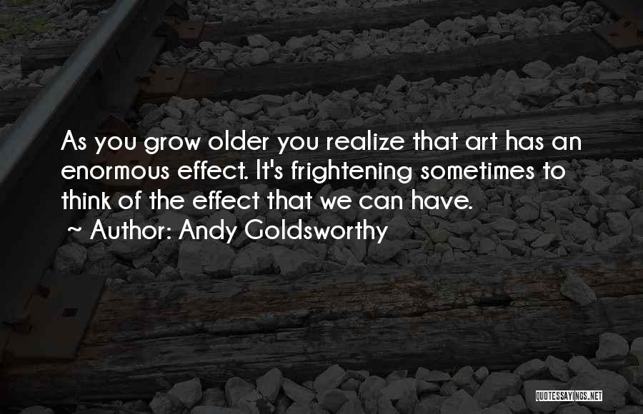 Sometimes You Have To Realize Quotes By Andy Goldsworthy