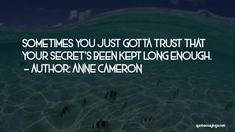 Sometimes You've Gotta Quotes By Anne Cameron