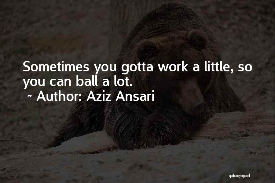Sometimes You've Gotta Quotes By Aziz Ansari
