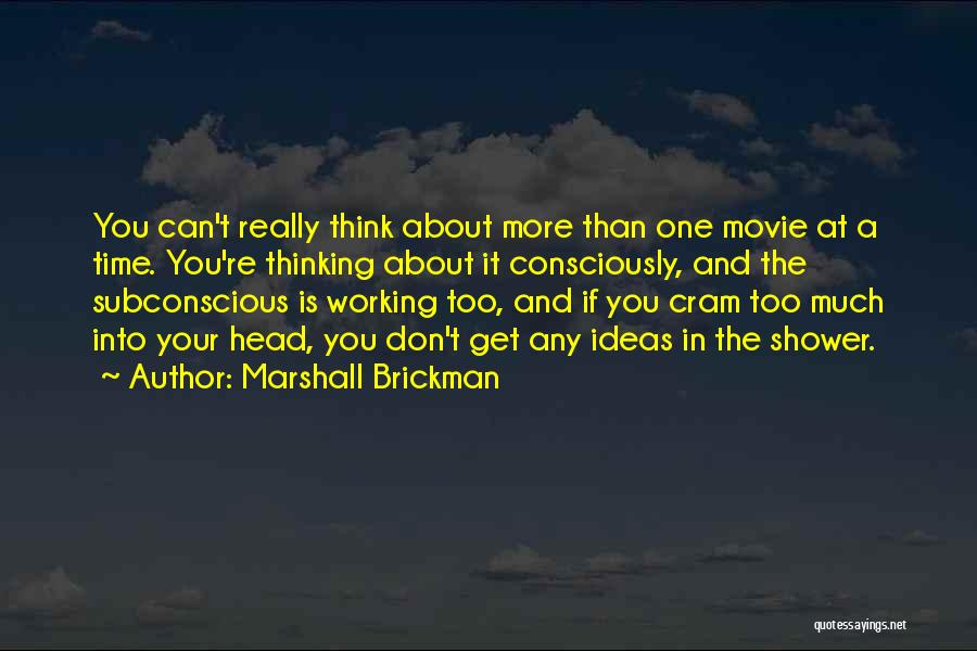 Somewhere In Time Movie Quotes By Marshall Brickman