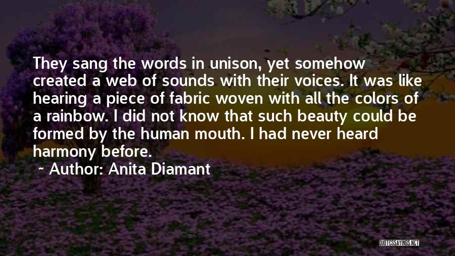 Song In Quotes By Anita Diamant