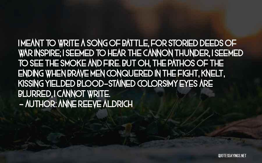 Song In Quotes By Anne Reeve Aldrich