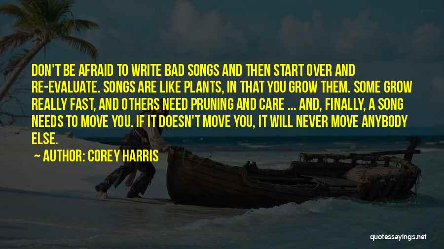 Song In Quotes By Corey Harris