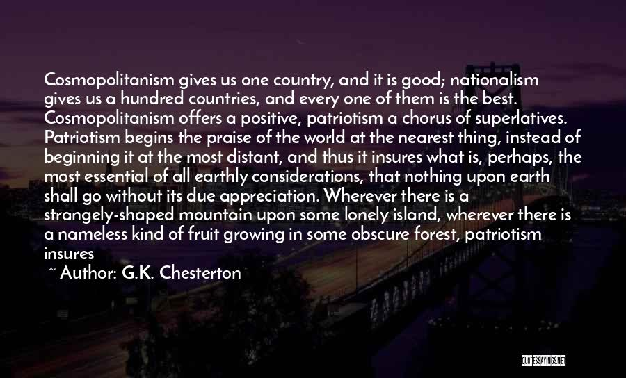 Song In Quotes By G.K. Chesterton