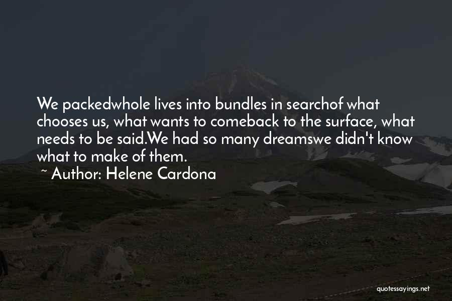 Song In Quotes By Helene Cardona