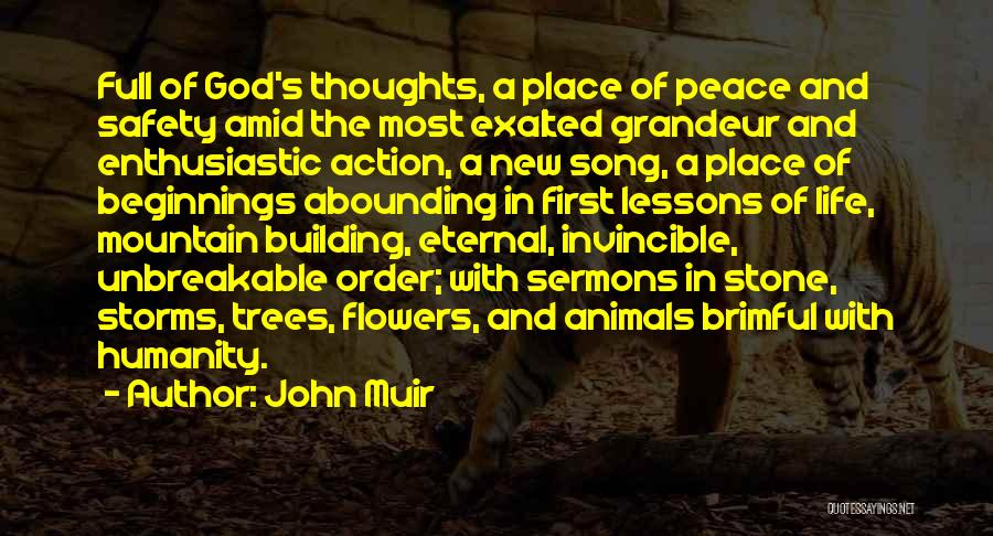 Song In Quotes By John Muir
