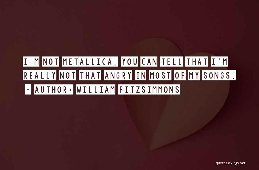Song In Quotes By William Fitzsimmons