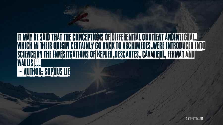 Sophus Lie Quotes 2175541