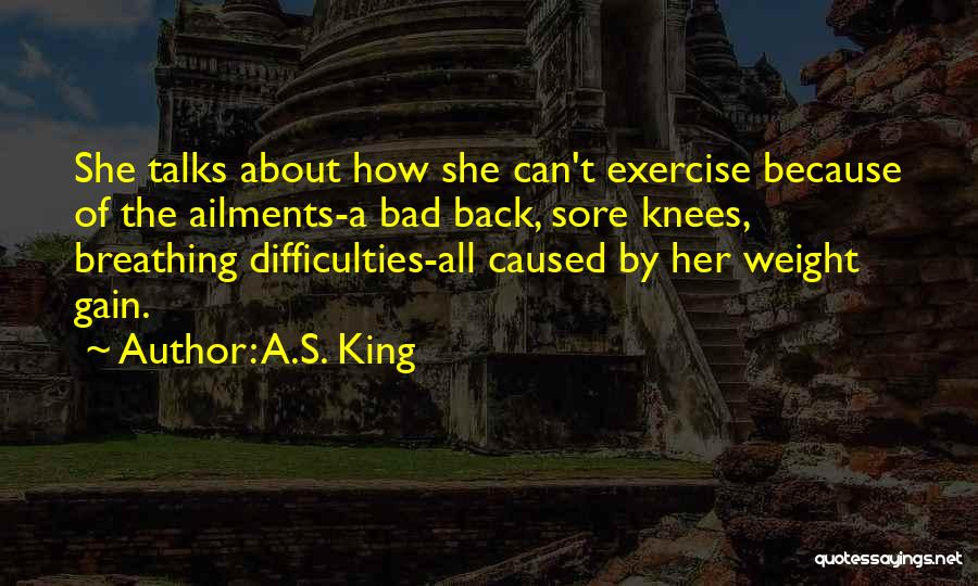 Sore Back Quotes By A.S. King