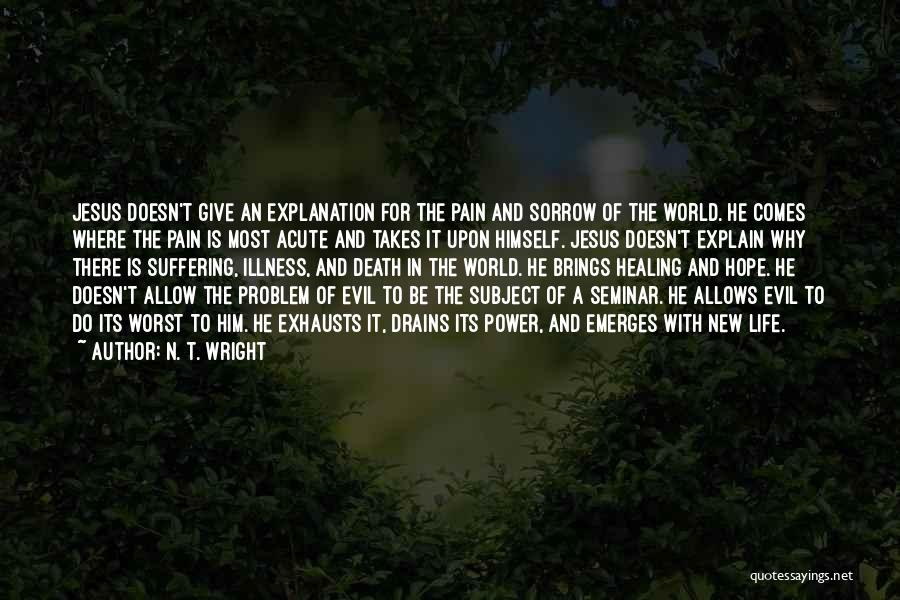 Sorrow And Healing Quotes By N. T. Wright