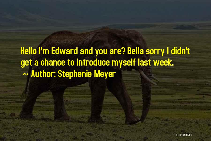 Sorry Last Chance Quotes By Stephenie Meyer