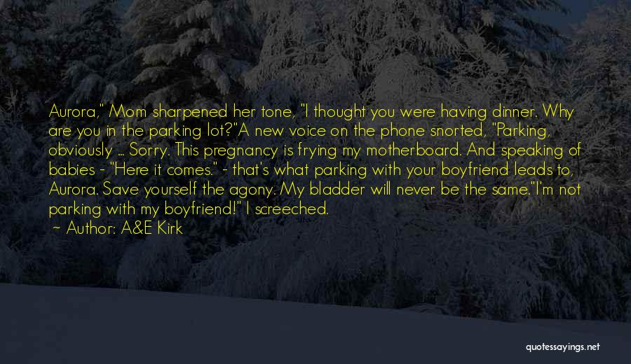 Sorry To Boyfriend Quotes By A&E Kirk