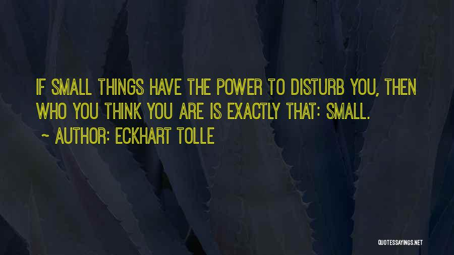 Sorry To Disturb U Quotes By Eckhart Tolle