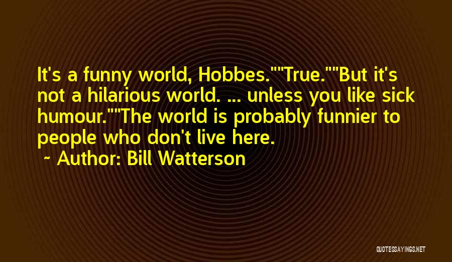 Sorry You're Sick Quotes By Bill Watterson