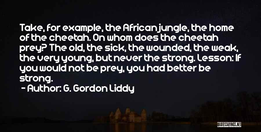 Sorry You're Sick Quotes By G. Gordon Liddy