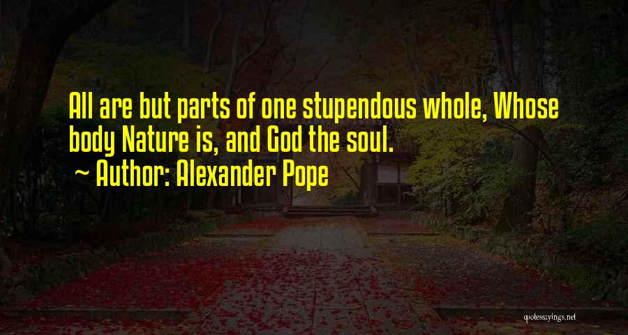 Soul And Nature Quotes By Alexander Pope