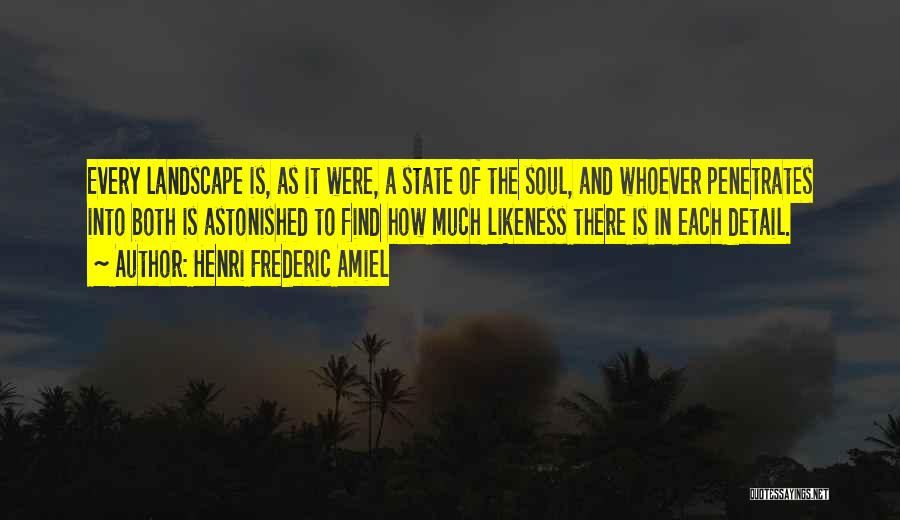 Soul And Nature Quotes By Henri Frederic Amiel
