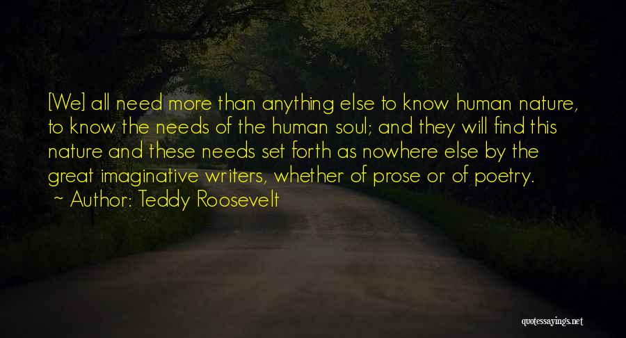 Soul And Nature Quotes By Teddy Roosevelt