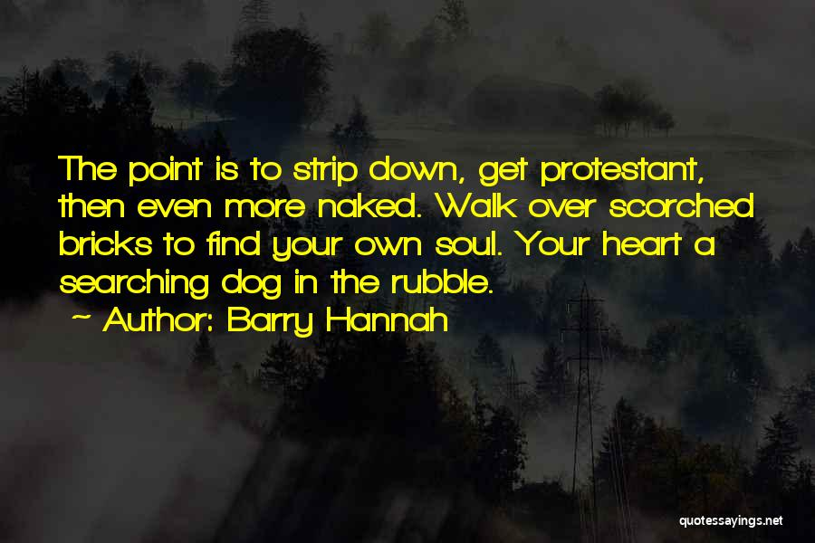 Soul Searching Quotes By Barry Hannah