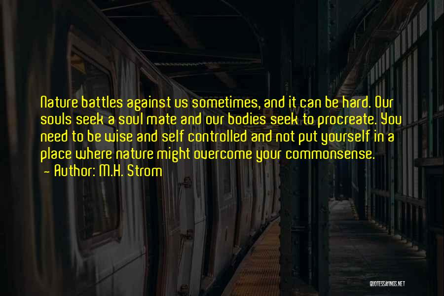 Souls And Bodies Quotes By M.H. Strom