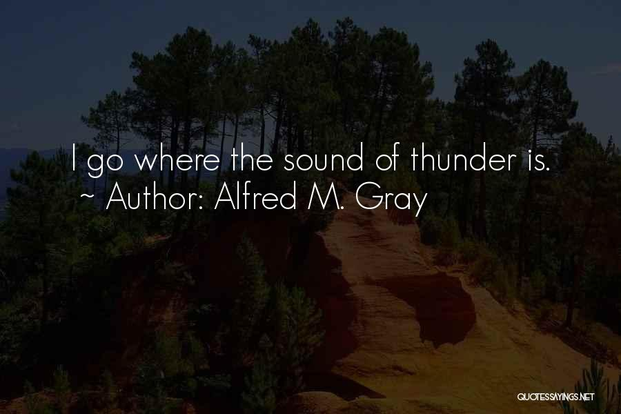 Sound Of Thunder Quotes By Alfred M. Gray