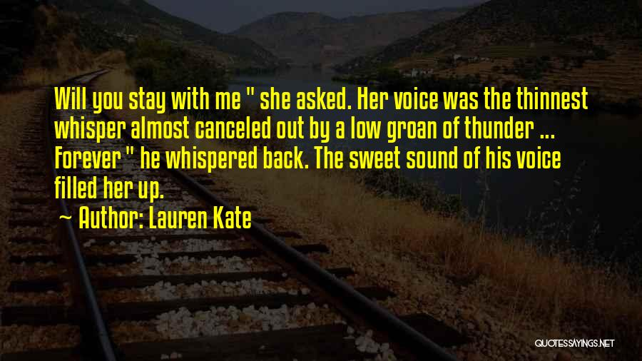 Sound Of Thunder Quotes By Lauren Kate