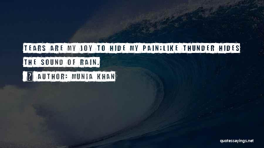 Sound Of Thunder Quotes By Munia Khan