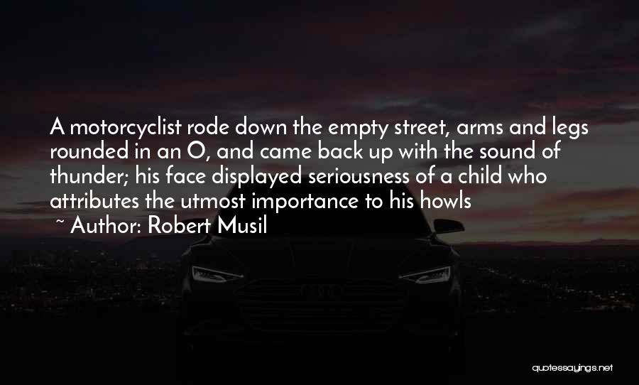 Sound Of Thunder Quotes By Robert Musil