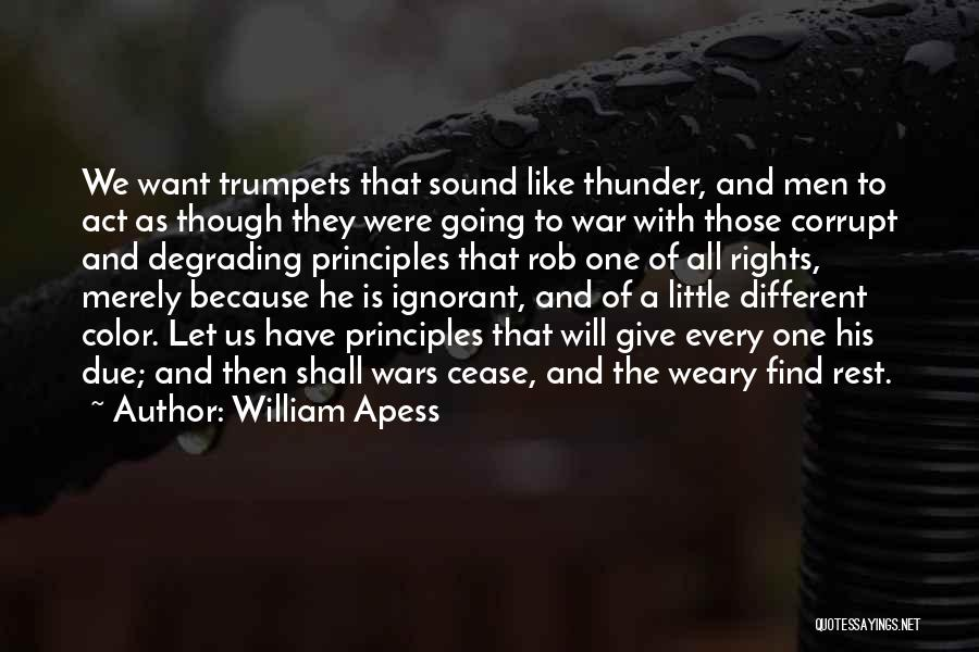 Sound Of Thunder Quotes By William Apess