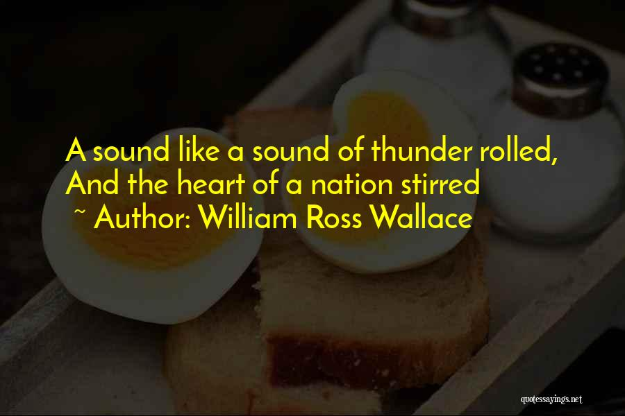 Sound Of Thunder Quotes By William Ross Wallace