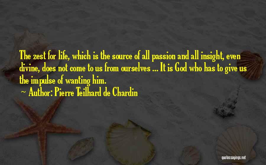 Source Of Insight Quotes By Pierre Teilhard De Chardin