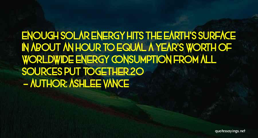Sources Of Energy Quotes By Ashlee Vance