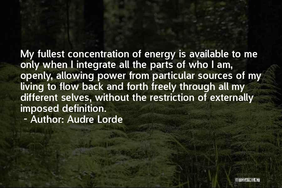 Sources Of Energy Quotes By Audre Lorde