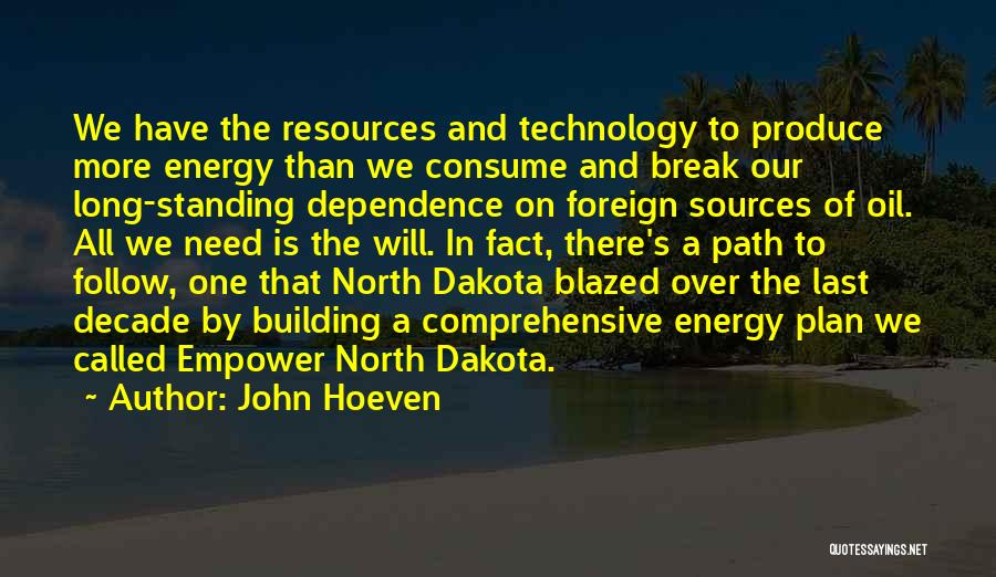Sources Of Energy Quotes By John Hoeven