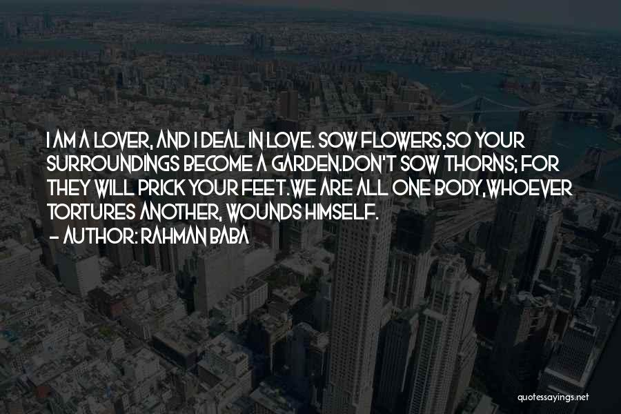 Sow Love Quotes By Rahman Baba