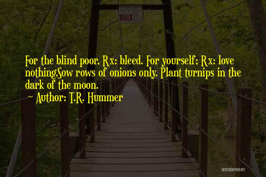 Sow Love Quotes By T.R. Hummer