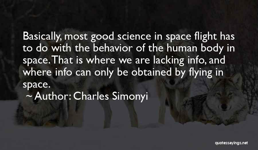 Space And Science Quotes By Charles Simonyi