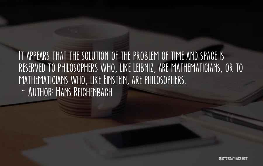 Space And Science Quotes By Hans Reichenbach