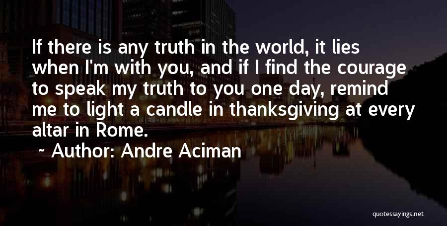 Speak The Truth Quotes By Andre Aciman