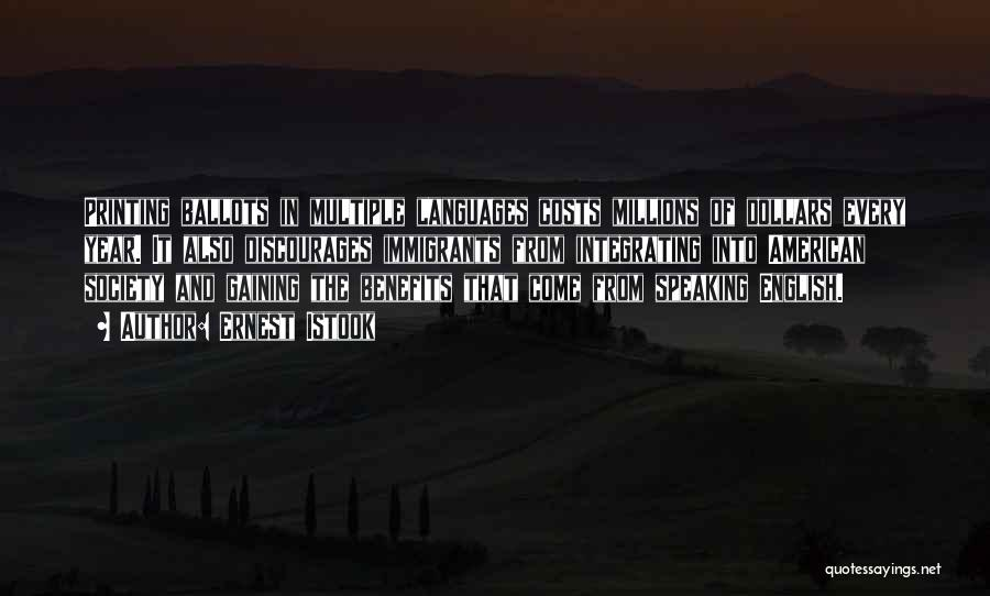 Speaking Other Languages Quotes By Ernest Istook