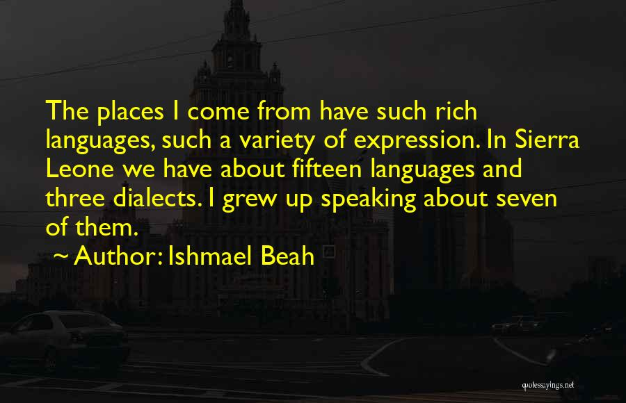 Speaking Other Languages Quotes By Ishmael Beah