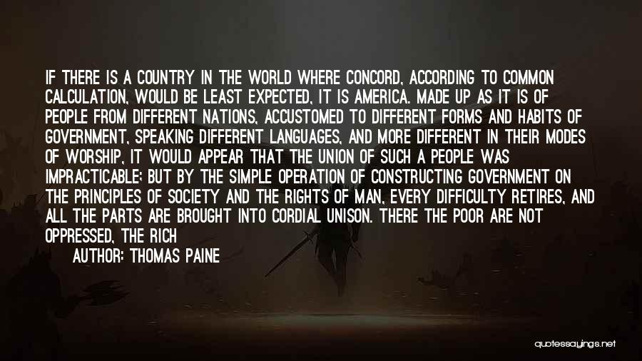 Speaking Other Languages Quotes By Thomas Paine